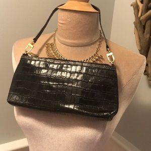 Maxx New York Croc-Embossed Leather Purse